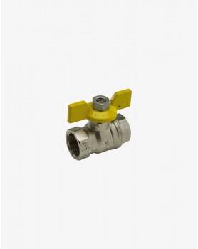 "Gas valve 1"" F/F butterfly handle SENA PN30"