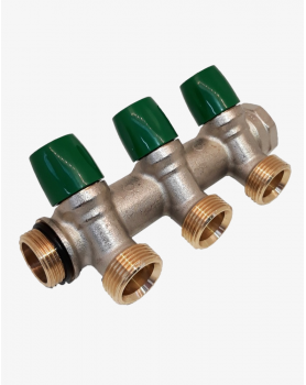 "Manifold for water system 4 ways 3/4""x3/4"" T4 GF"